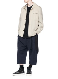 Song for the Mute Detachable strap cropped twill pants