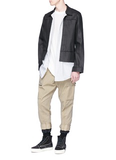 Song for the Mute 'Kick' cropped twill cargo pants