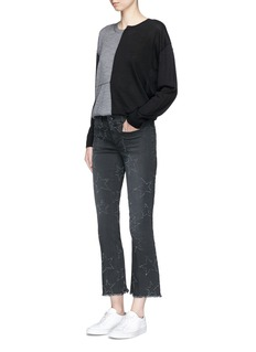 Stella McCartney Colourblock virgin wool-silk sweater