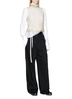 ANN DEMEULEMEESTER 'Genevieve' floral embroidered sleeveless mesh top