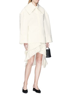Jacquemus 'La Jupe Seville' pleated trim asymmetric skirt