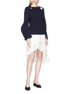 Jacquemus 'La Maille Boléro' sculptural sleeve wool sweater