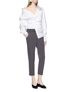 Jacquemus 'La Chemise Elie' asymmetric stripe poplin shirt