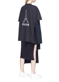 Vetements Mixed print layered oversized T-shirt dress