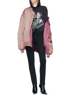 Vetements Mixed print oversized hoodie