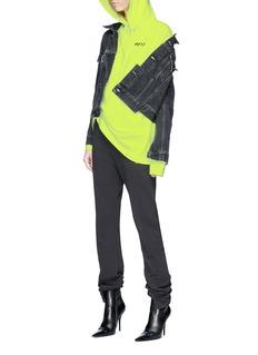 Vetements 'P.E.T.S.' print oversized neon oversized hoodie