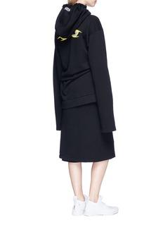 Vetements Eyes print oversized hoodie dress