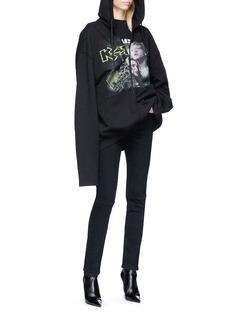 Vetements Mixed print oversized zip hoodie