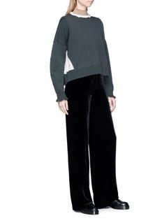 UNDERCOVER Silk ruffle wool turtleneck sweater