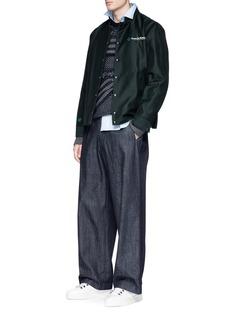 Lanvin 'Fantastic Utopia' print gabardine padded bomber jacket