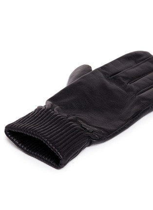 Detail View - Click To Enlarge - Canada Goose - Goatskin leather rib gloves