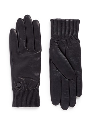 Main View - Click To Enlarge - Canada Goose - Goatskin leather rib gloves