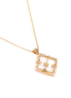 BUCCELLATI 'Opera' mother of pearl 18k yellow gold pendant necklace