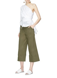 Nicholas Belted twill culottes