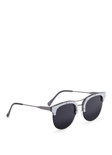 SUPER 'Strada' mirror browline metal sunglasses