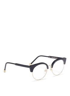 SUPER 'Numero 30' metal rim acetate browline optical glasses