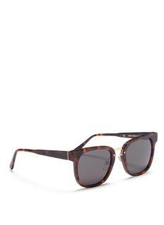 SUPER 'Giorno Classic Havana' tortoiseshell acetate square sunglasses