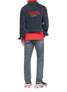 Balenciaga 'Sinners' embroidered cotton denim jacket