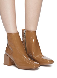 LOQ 'Lazaro' block heel patent leather ankle boots