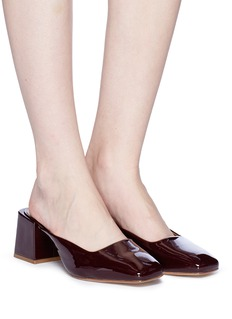 LOQ 'Vale' patent leather heel mules