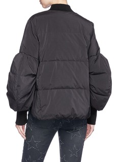 Muveil Puff sleeve down bomber jacket