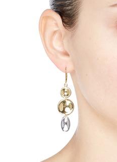 J.HARDYMENT 'Small Thumbprint' mixed coin drop earrings