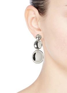 J.HARDYMENT '3 Round Thumbprint' coin drop earrings