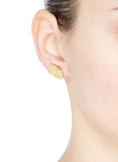 J.HARDYMENT 'Thumbprint' 14k yellow gold silver climber earrings