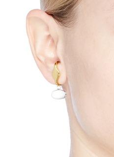 J.HARDYMENT 'Long Face Pendant Lobe Hagger' 14k gold earrings