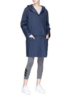 PHVLO Detachable hem hooded rainproof coat
