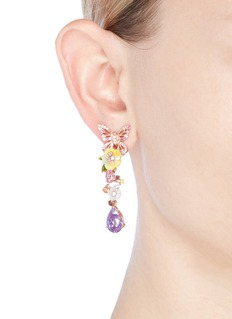 Anabela Chan 'Vine' amethyst drop 18k rose gold earrings