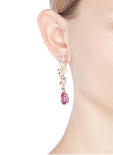 Anabela Chan 'Vine' sapphire drop 18k rose gold earrings