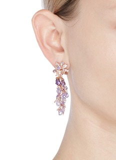 Anabela Chan 'Coralbell' detachable drop 18k rose gold earrings