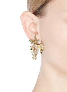 Anabela Chan 'Butterfly Bloom' 18k yellow gold earrings