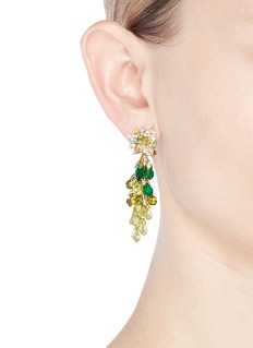 Anabela Chan 'Coralbell' detachable drop 18k yellow gold earrings