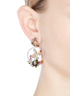 Anabela Chan 'Butterfly' 18k rose gold wreath earrings