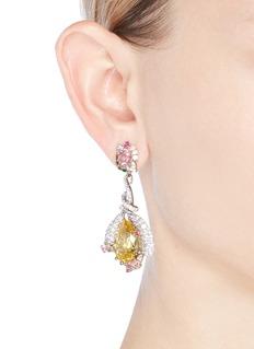 Anabela Chan 'Fuchsia' citrine drop 18k gold earrings
