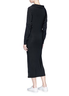 Norma Kamali 'All In One' convertible stripe dress