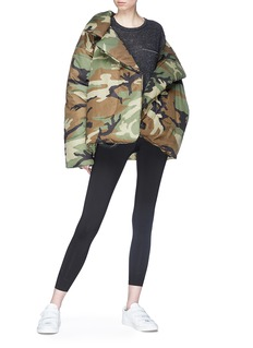 Norma Kamali 'Sleeping Bag' camouflage print belted puffer jacket