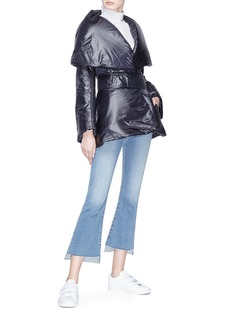Norma Kamali Shawl collar padded peplum jacket