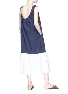 Araks 'Phoenix' asymmetric shirred neckline midi dress