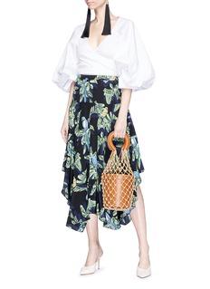 Caroline Constas 'Josie' puff sleeve poplin blouse