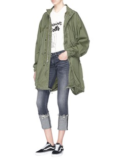 R13 'Kate' roll cuff slim fit jeans
