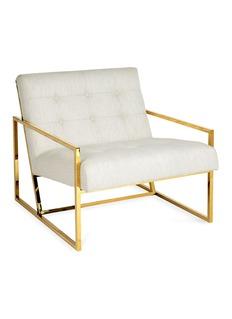 Jonathan Adler Goldfinger lounge chair –Lucerne Oyster