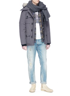 Canada Goose 'Banff' coyote fur trim hooded down padded parka