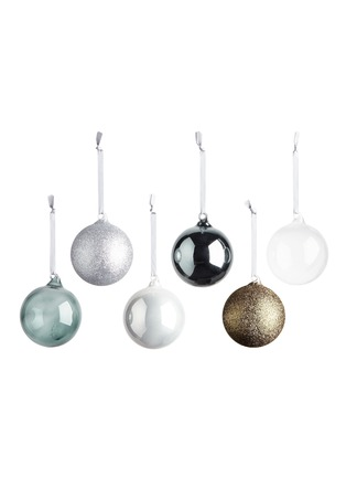 Main View - Click To Enlarge - Cherry Sweet x Lane Crawford - Silver baubles pack