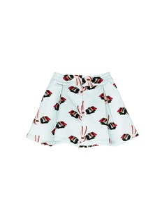 HELEN LEE Bunny graphic print twill flare kids skirt