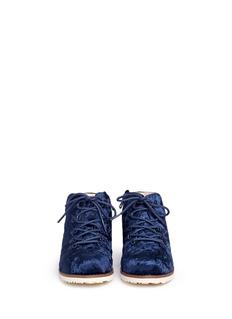 AKID 'Jasper' velvet kids boots