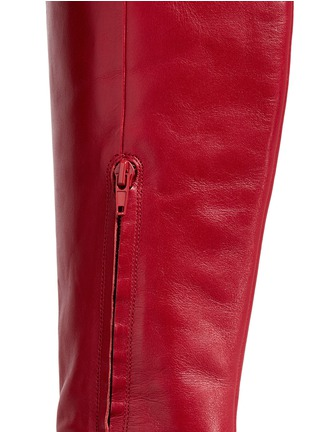 Detail View - Click To Enlarge - Stella Luna - 'Stella XXL' turnlock buckle leather thigh high boots