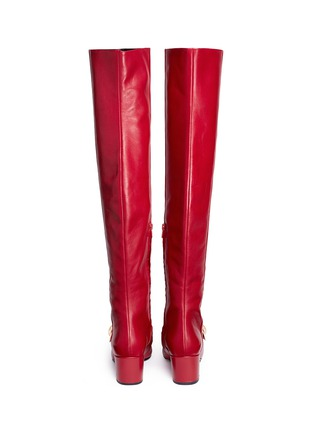 Back View - Click To Enlarge - Stella Luna - 'Stella XXL' turnlock buckle leather thigh high boots